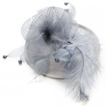 Grey Fascinator Hat Vanessa - FAS087